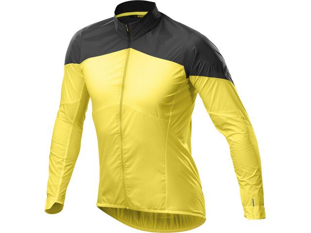 Mavic Cosmic Wind Midlayer Jas Heren, yellow mavic/black